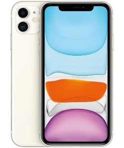 iPhone 11 in weißer Farbe