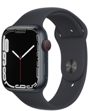 Apple Watch Series 7 (GPS + Cellular) 45mm Alu Sportarmband
