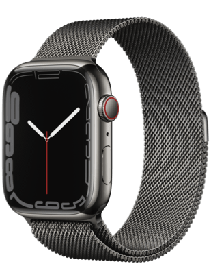 Apple Watch Series 7 (GPS + Cellular) 45mm Steel Milanaise Armband