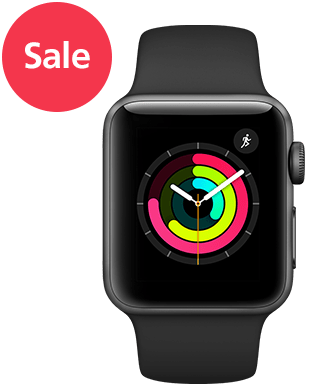 Apple Watch S3 LTE Alu 42mm Sport Detailansicht