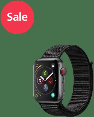 Apple Watch S4 LTE Alu 44mm Loop Detailansicht