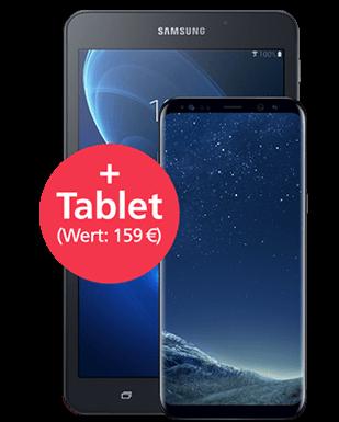 Samsung Galaxy S8+ mit Tablet