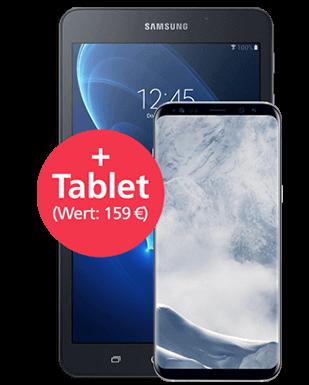Samsung Galaxy S8 mit Tablet