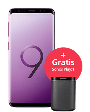 Samsung Galaxy S9 mit Sonos Play:1