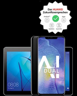Huawei Mate20 Pro mit Tablet Detailansicht