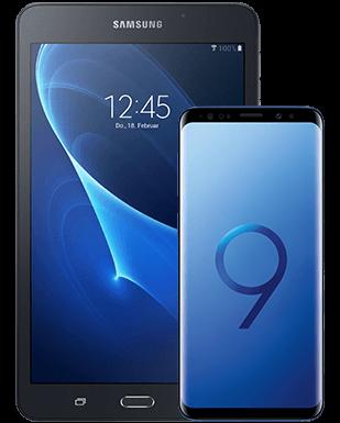 Samsung Galaxy S9 mit Tablet