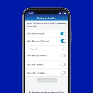 o2 Business App: Rufumleitung & Mailbox
