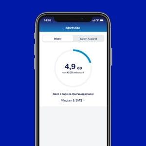 o2 Business App: Verbrauchsanzeige