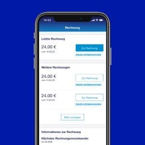 Rechnungen einsehen in der o2 Business App
