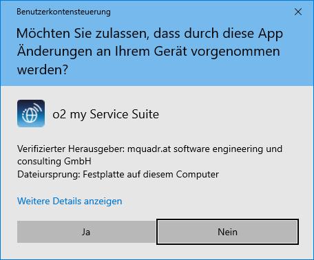 o2 my Service Suite installieren