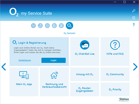 o2 my Service Suite o2 Services