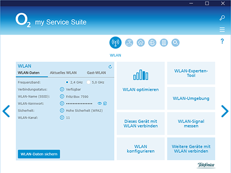 o2 my Service Suite WLAN