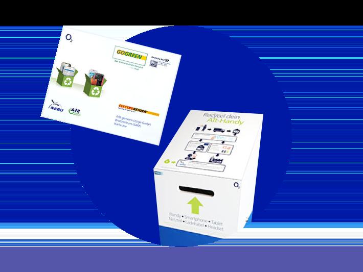 Recycling-Box für gebrauchte Handys im Shop