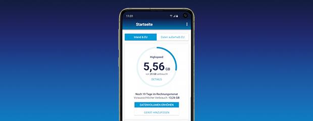 Verbrauch in der Mein o2 App einsehen