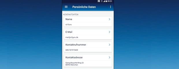 Persönliche Daten in der Mein O2 App verwalten