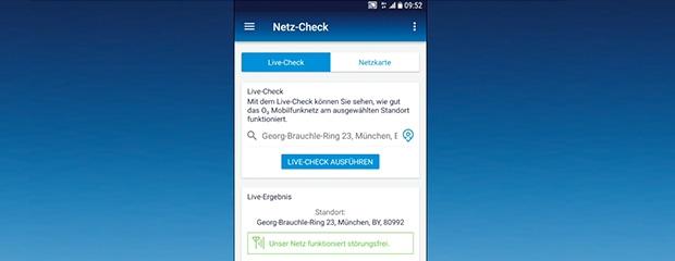 Netz-Check in der Mein O2 App