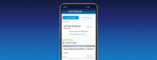 Tarife in der Mein o2 App einsehen