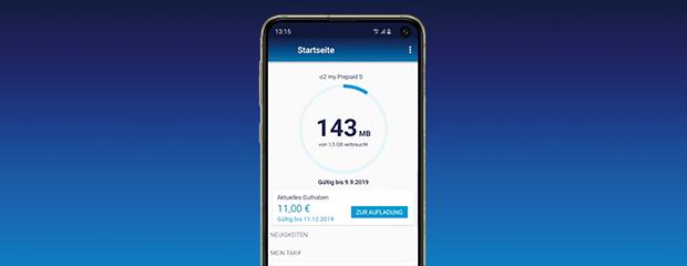 Prepaid-Einstellungen in der Mein o2 App einsehen