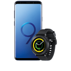 Samsung Galaxy S9+ mit Gear Sport