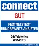 Connect: o2 DSL erneut mit gut bewertet