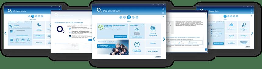 Screenshots der Service Suite