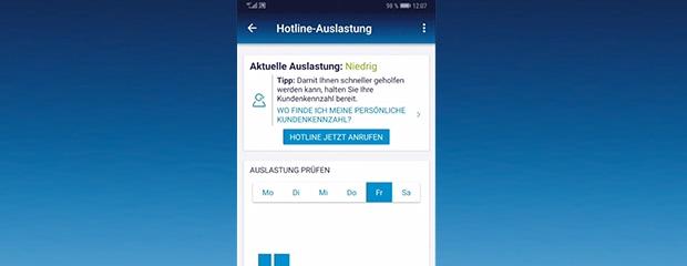 Hotline-Auslastung
