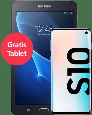 Samsung Galaxy S10 mit Tablet Detailansicht