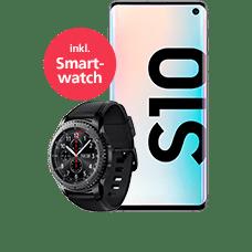 Samsung Galaxy S10 mit Smartwatch