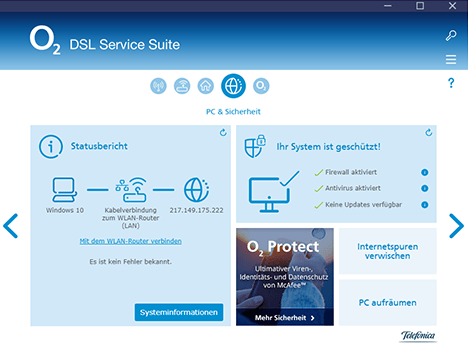DSL Service Suite Mein o2