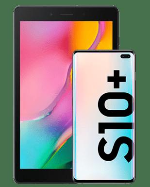 Samsung Galaxy S10+ (128GB) mit Tablet Detailansicht