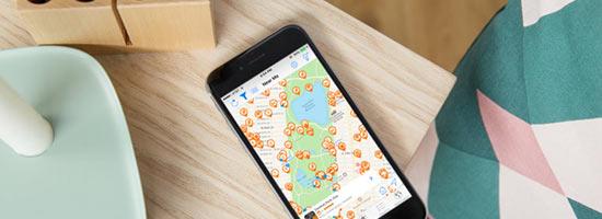 Reise-App mit Karten-Funktion