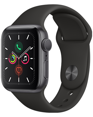 Apple Watch S5 Alu 40 Sport Detailansicht