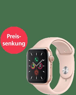 Apple Watch S5 LTE Alu 44 Sport Detailansicht
