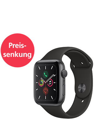 Apple Watch S5 LTE Alu 44 Sport Detailansicht