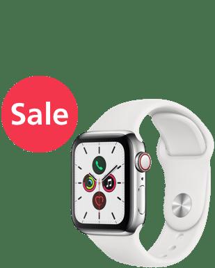 Apple Watch S5 LTE Steel 40Sport Detailansicht