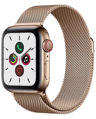 Apple Watch S5 LTE Steel 40 Milanaise Detailansicht