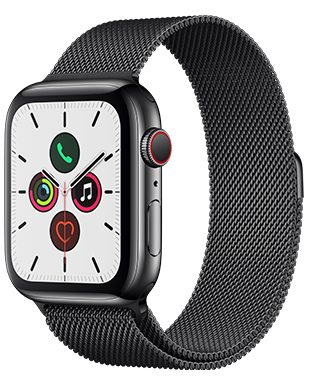 Apple Watch S5 LTE Steel 44 Milanaise Detailansicht