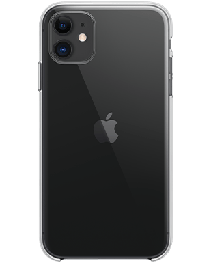 Apple iPhone 11 mit Apple Clear Case Detailansicht
