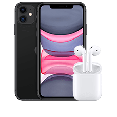 Apple iPhone 11 mit Apple AirPods
