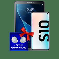 Samsung Galaxy S10 mitTablet
