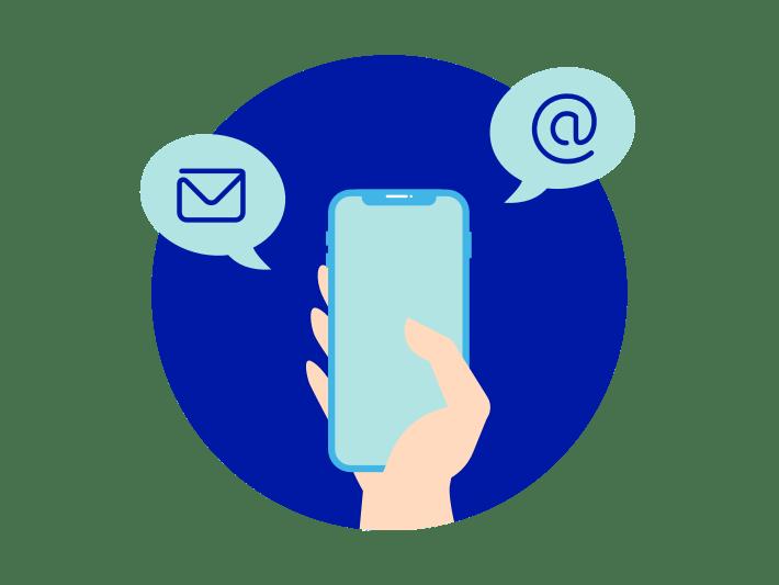 Portierungsauftrags per SMS/Email