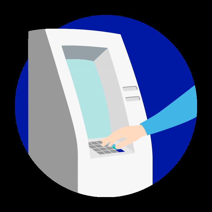 Aufladen am Geldautomaten