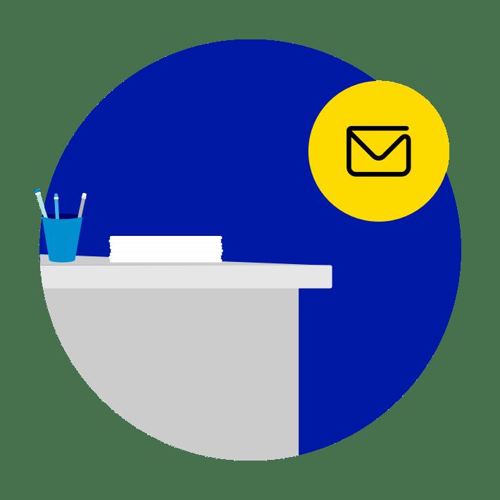 Aufladung am Postschalter