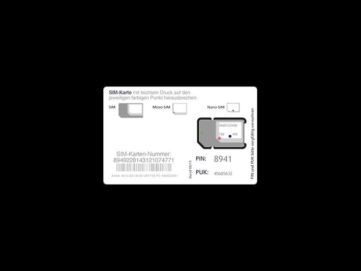 Ersatz-SIM-Karte bestellen