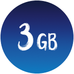 3 GB Datenvolumen