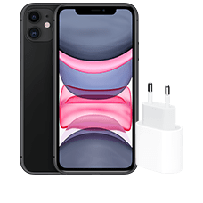 Apple iPhone 11 mit Apple USB Power Adapter