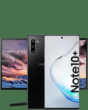 Samsung Galaxy Note10+ mit Monitor Detailansicht