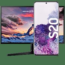Samsung Galaxy S20 mit Monitor