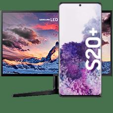 Samsung Galaxy S20+ mit Monitor