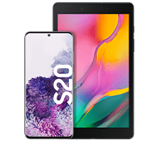 Samsung Galaxy S20 mit Tablet